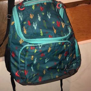 Handbags - Blue Cactus Printed Backpack